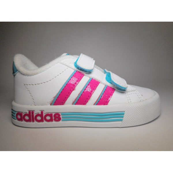 Adidas Scarpa ginnastica Bambino Daily team Bianca/fuxia