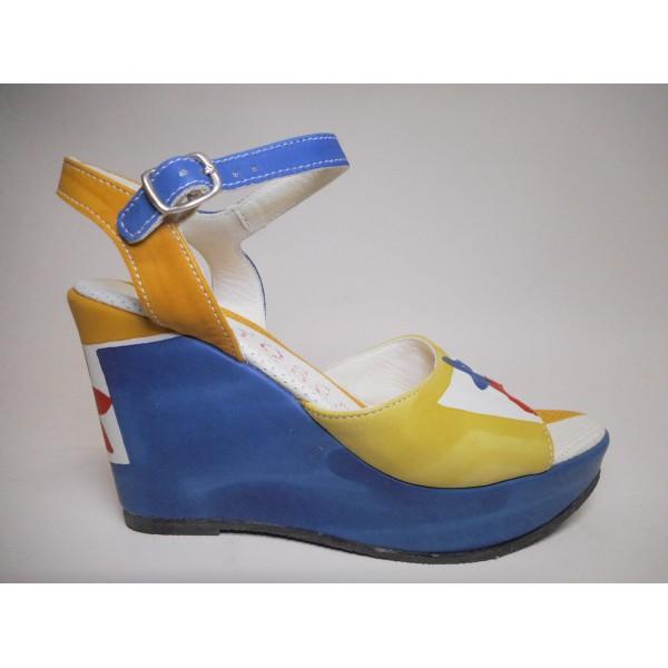 Astore Sandalo Donna Acquarello Multicolor