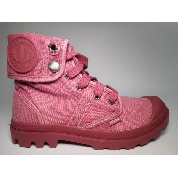Palladium Stivaletto tela Donna Pallabrouse baggy Rosso