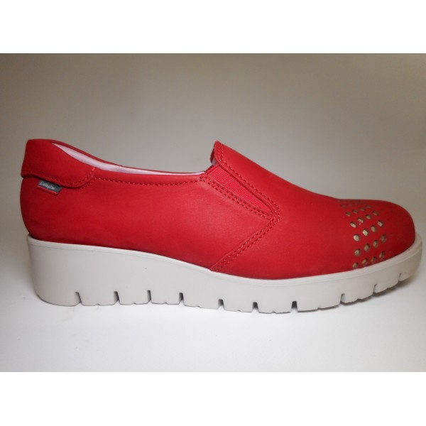 Callaghan Scarpa Donna Pantofola zeppa Rosso