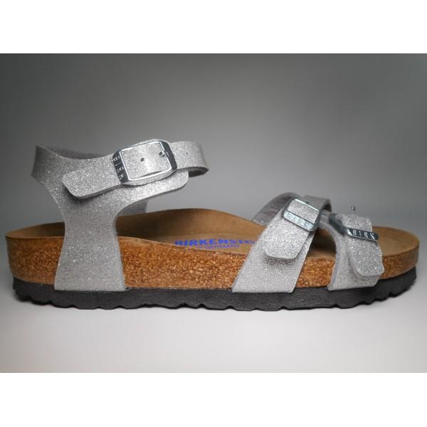 Birkenstock Sandalo Donna Kumba Argento