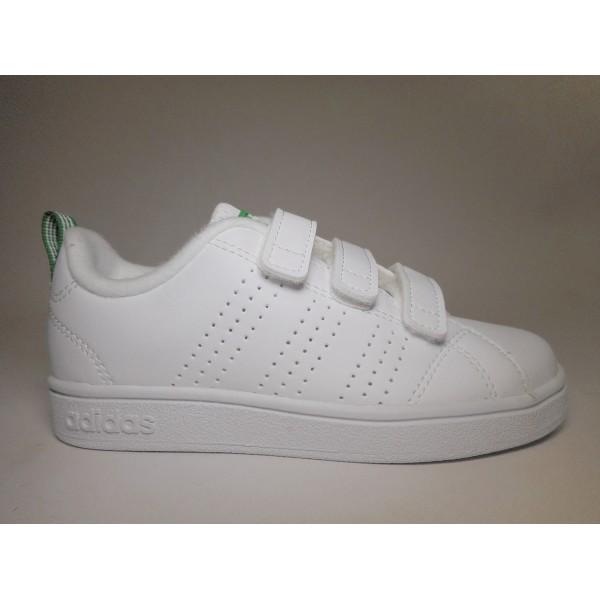 timeless design e7dca 3baf7 Adidas Scarpa ginnastica Bambino Vs adv cl Bianco